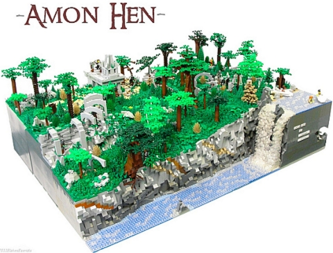 LEGO Lord of the Rings Amon Hen by Jack Bittner & Blake Baer