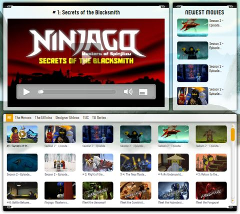 LEGO Ninjago Website Videos