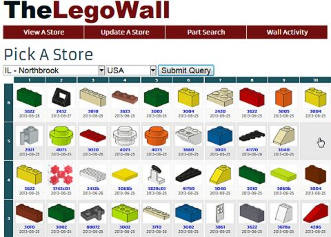 LEGO Pick-A-Brick Wall Selection