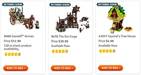 LEGO Sets Retiring Soon - Lord of the Rings