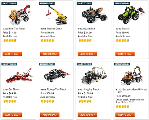 LEGO Technic Sets Available Now