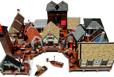 LEGO The Hobbit Esgaroth by Blake Baer