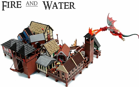 LEGO The Hobbit Fire & Water by Blake Baer
