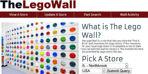 LEGO Wall Website