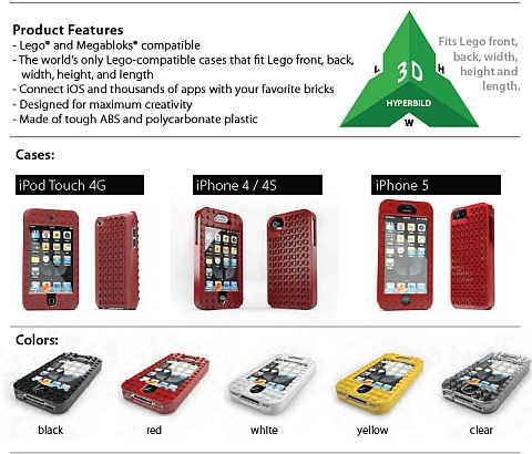 LEGO iPhone and iPad Cases by TinkerBrick