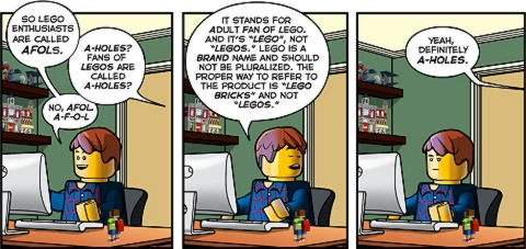 LEGO or LEGOs Comic by FBTB.net
