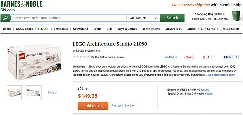 LEGO Architecture Studio at B&N