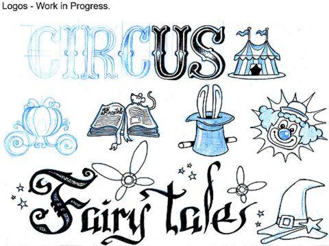 LEGO Circus and LEGO Fairy Tales Logos by Alexandre Boudon