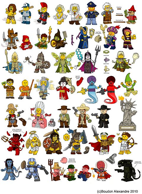 LEGO Collectible Minifigures by Alexandre Boudon