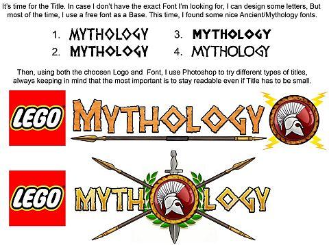 LEGO Myhology Logo by Alexandre Boudon