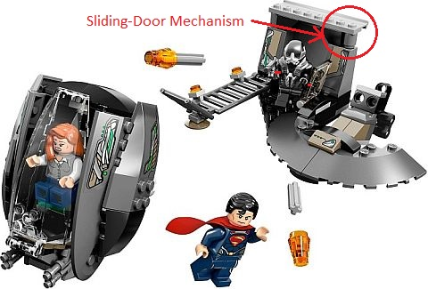LEGO Superman Black Zero Escape Sliding Door