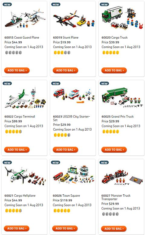 Shop for 2013 LEGO Summer City Sets