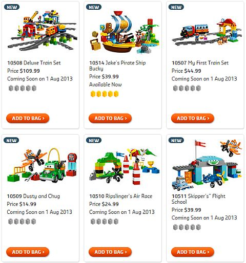 Shop for 2013 LEGO Summer DUPLO Sets
