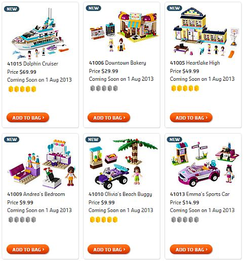 Shop for 2013 LEGO Summer Friends Sets