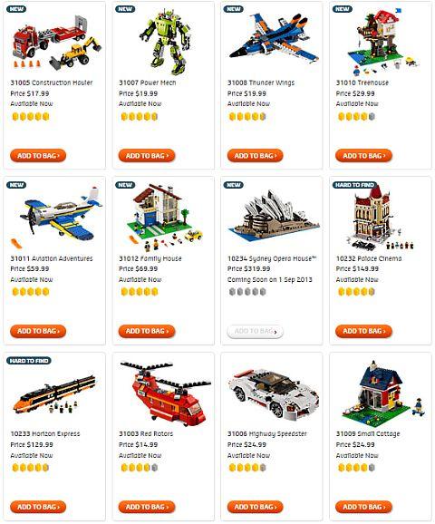 Shop for LEGO Creator Sets