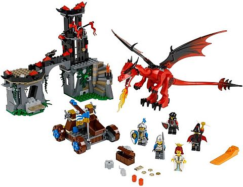 #70403 LEGO Castle Dragon Mountain Review