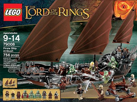 #79008 LEGO Lord of the Rings Pirate Ship Ambush Review