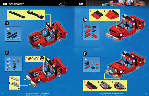 LEGO Book - Amazing Vehicles Instructions