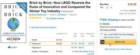 LEGO Book Brick by Brick on Amazon
