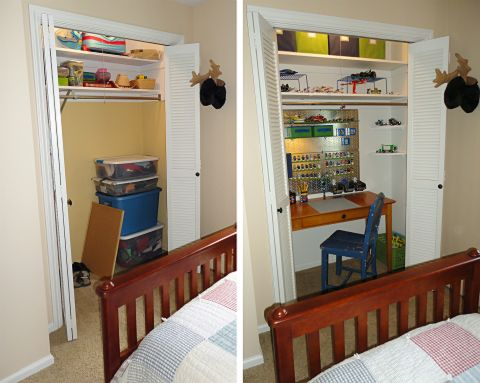 LEGO Closet Before and After