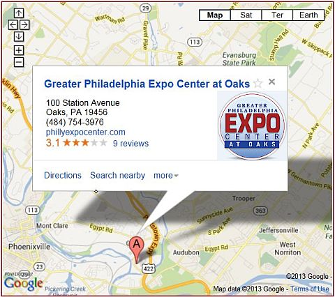 LEGO Convention - Philly Brick Fest Map