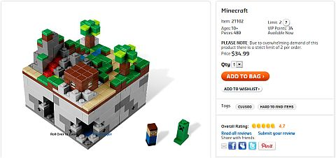 LEGO Minecraft Available Now