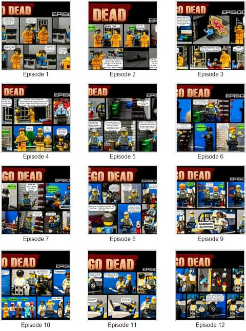 LEGO comics - The LEGO Dead Series