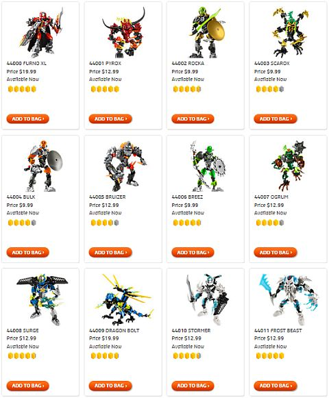 Shop for LEGO Hero Factory Sets