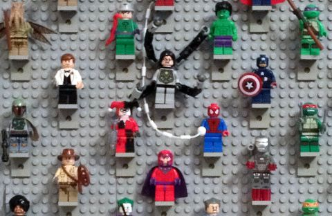 LEGO Minifig Display Close-Up