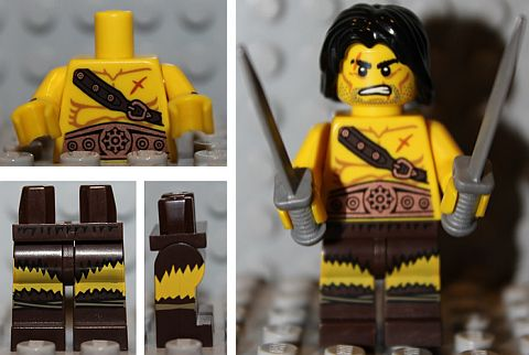 LEGO Minifigures Series 11 Barbarian Details