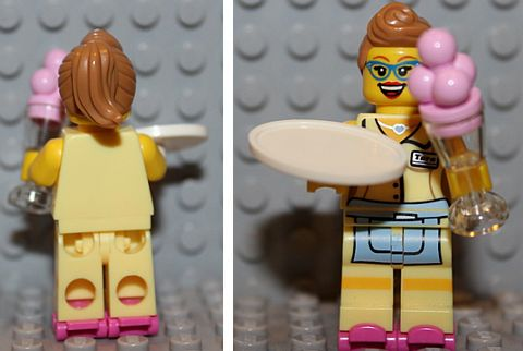 LEGO Minifigures Series 11 Diner Waitress Details