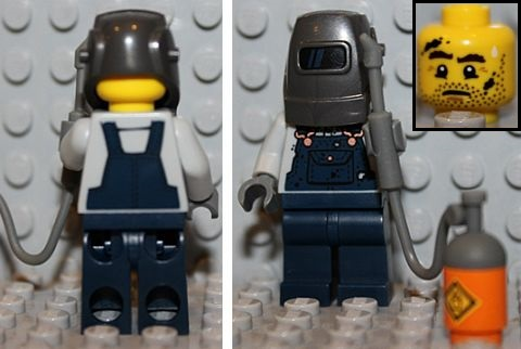 LEGO Minifigures Series 11 Welder Details