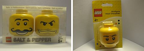 LEGO Salt & Pepper Shakers and Pencil Sharpener