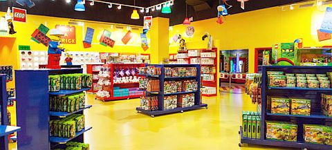 LEGO Shop Inside with Banners