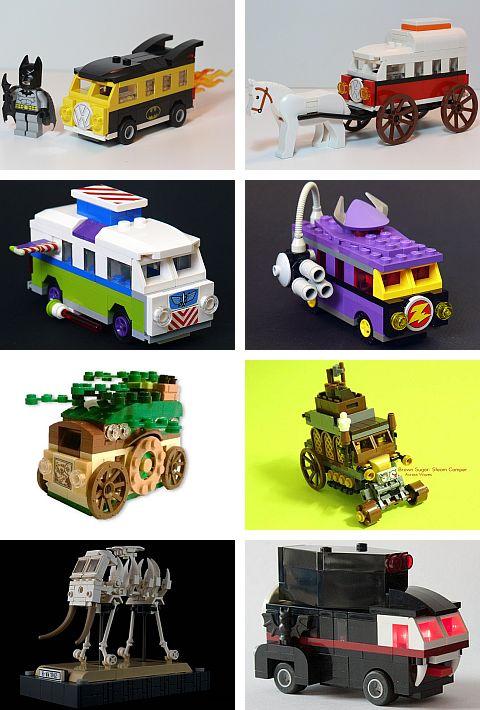 LEGO VW Camper Van Conversions at EuroBricks