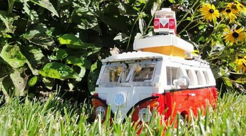 LEGO VW Camper Van in the Wild