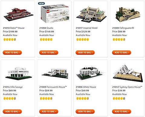 Shop for LEGO Architecture Sets