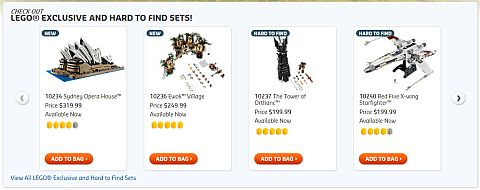 Shop for LEGO Exlusive Sets