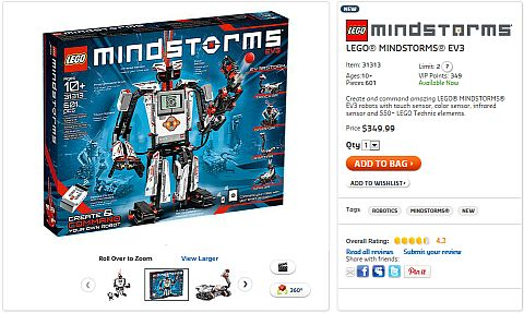 Shop for LEGO Mindstorms EV3