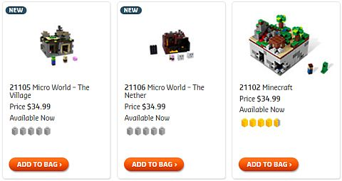 Shop for LEGO Minecraft Sets
