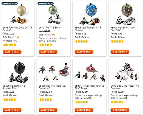 Shop for LEGO Star Wars Planets Sets