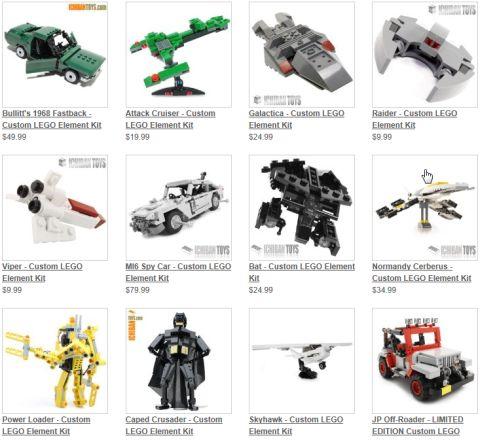 Custom LEGO Kits by Ichiban Toys