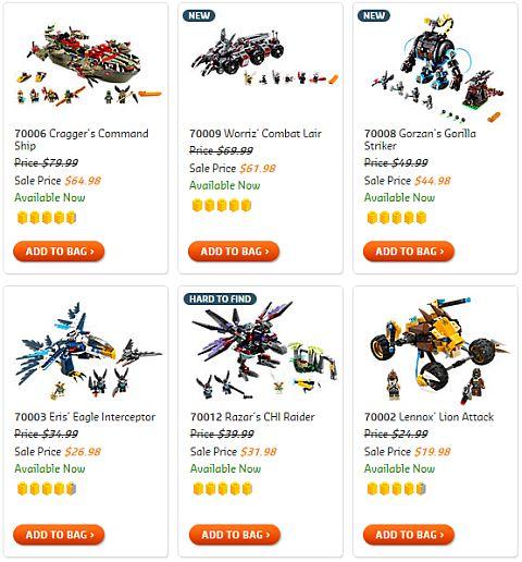 LEGO Legends of Chima Sets on Sale