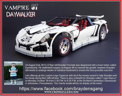 LEGO Supercar Charity Auction