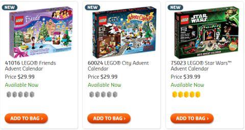 Shop for Christmas LEGO Advent Calendars