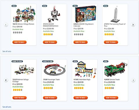 Shop for Holiday LEGO Sets
