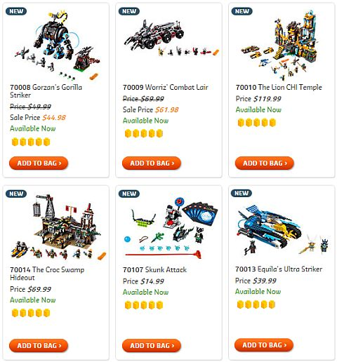 Shop for LEGO Legends of Chima Sets