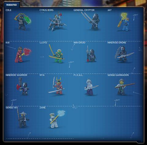 2014 LEGO Ninjago Characters