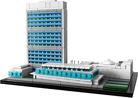 #21018 LEGO Architecture United Nations Headquarters Back View