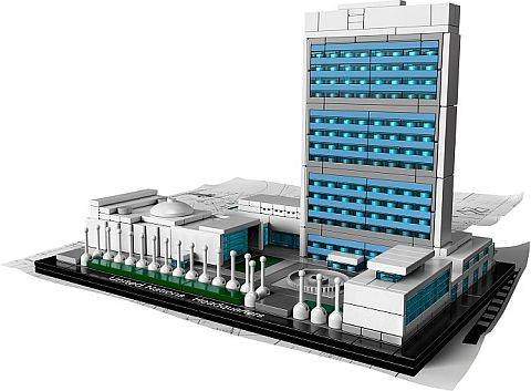 #21018 LEGO Architecture United Nations Headquarters Details